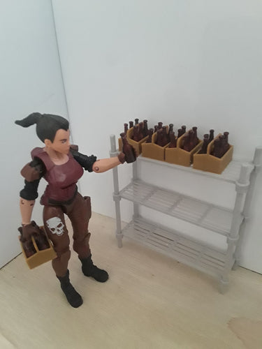 Six pack and bottles (1:18 scale)