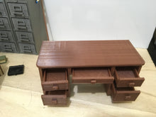 1940s Style Desk with Working Drawers and Secret Compartments (1:18 scale)