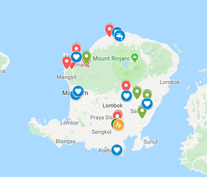 Map Lombok projects to fund