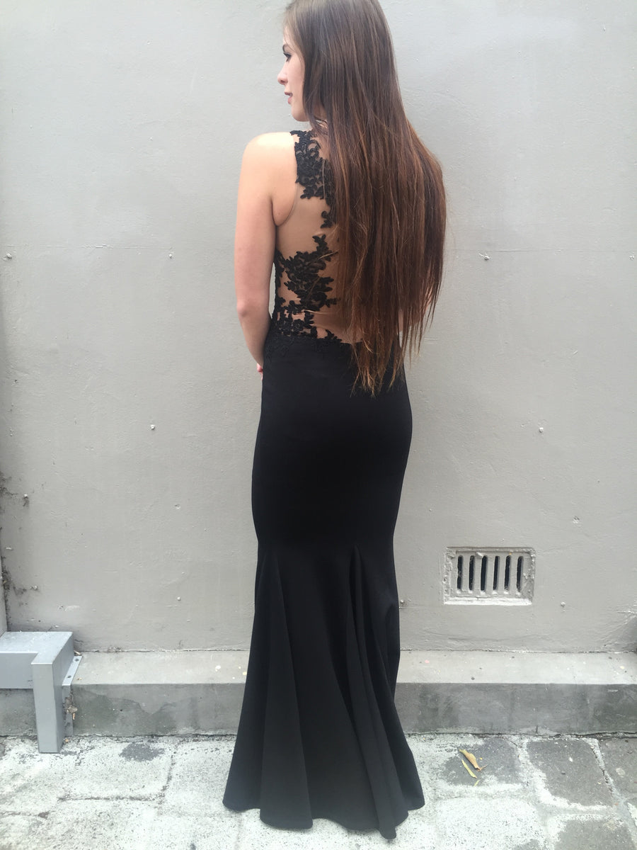 Grace gown - black with beige