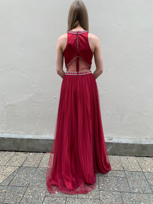India gown - deep red