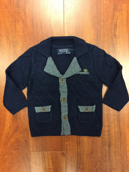 Navy Knit Jacket