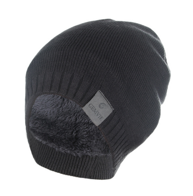 Acrylic wool cap autumn and winter plus velvet warm knit hat