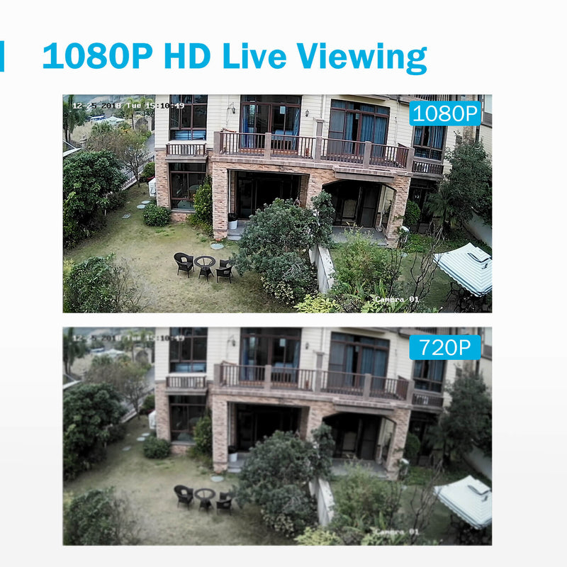 Young C2丨8+2 CH DVR Security Camera System with 1080P Outdoor Cameras