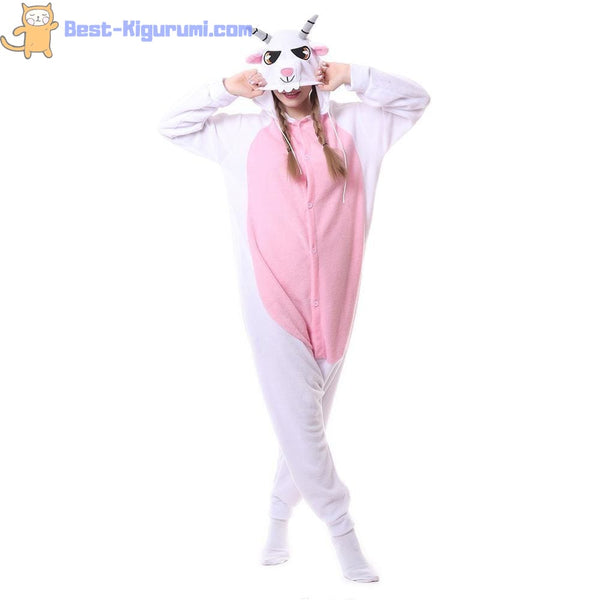 Goat Onesie for Adults | Kigurumi Style Adult Onesie Pajamas-bestkigurumi