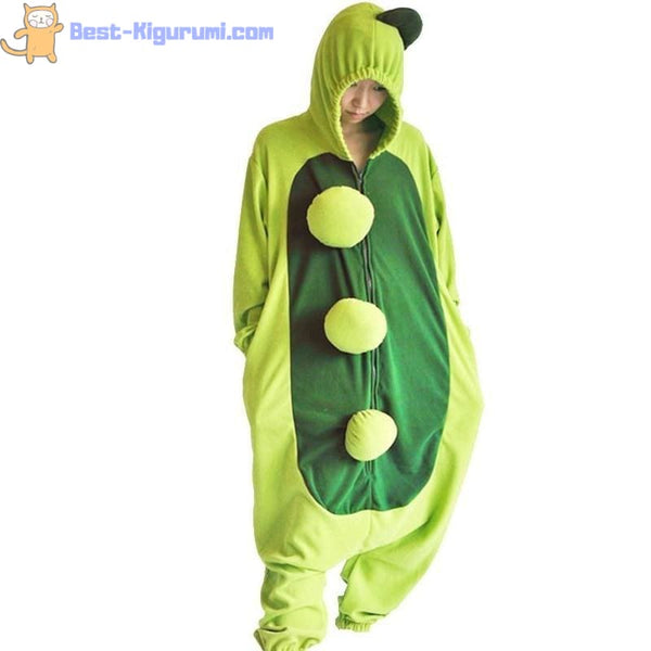 Pea Pod Onesie Pajamas for Adults | Best Kigurumi - flannel