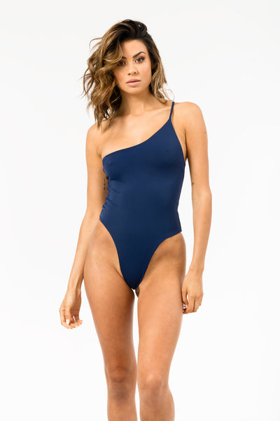 Avalon Reversible One Piece in Navy/Snorkel Blue