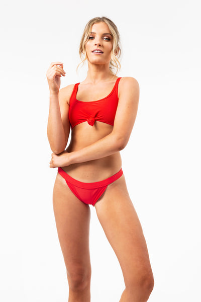 ALL THE FEELS: Greer Top in Red - FRANKIES BIKINIS