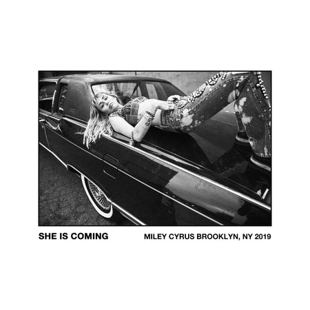 She Is Coming Poster & Digital Download-MILEY CYRUS