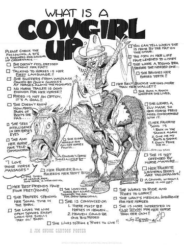 Cowgirl Up Poster