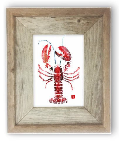 Small Framed red lobster