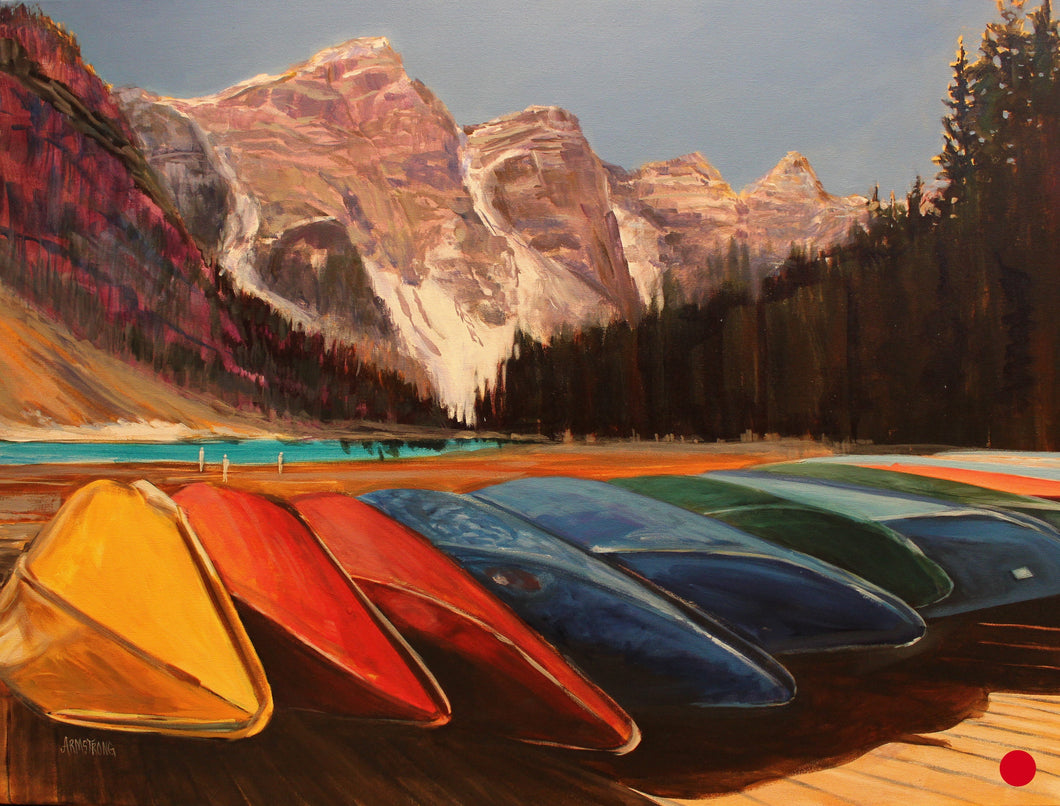 SOLD .... Canoes For You, 30 x 40