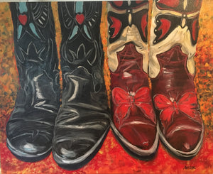 "SPRING SALE!!   Kick Up Your Heels II, 24 x 30"" Acrylic"