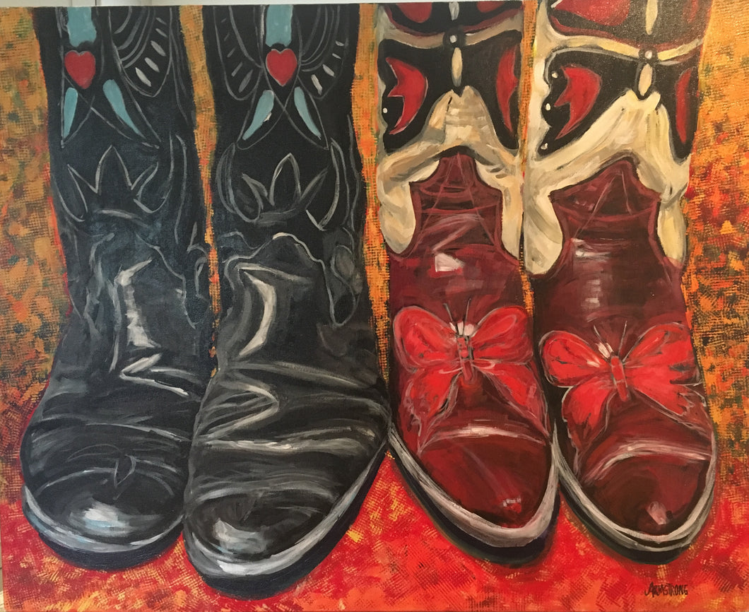 SPRING SALE!!   Kick Up Your Heels II, 24 x 30