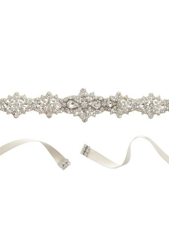 Star Flower Crystal Accent Sash