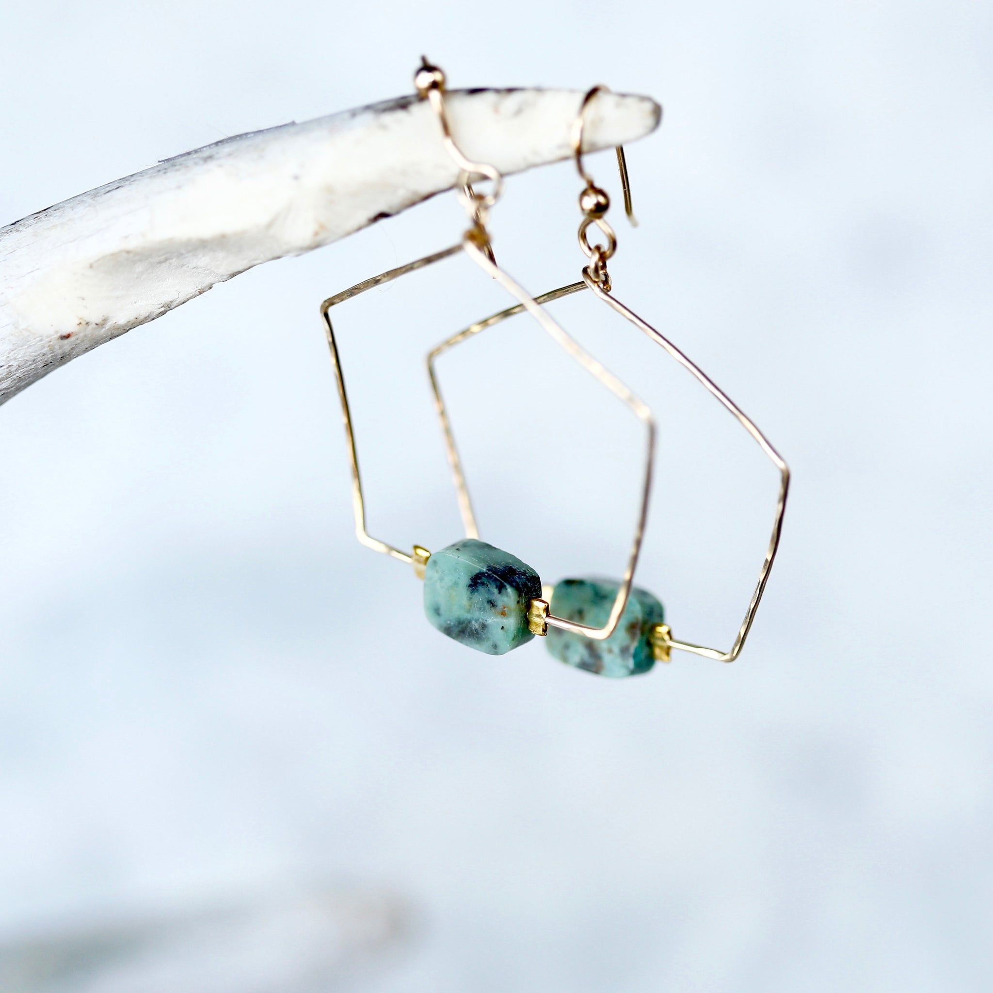 Turquoise Five Points Earrings