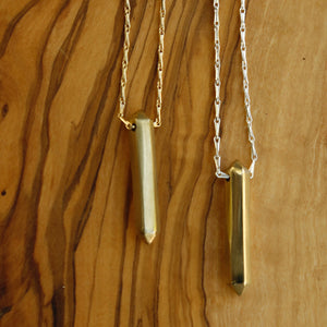 Brass Prism Necklace