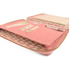 Pale Pink A5 MAIDEN Leather Teardrop Fabric Lined Zippered Compendium by CocoaPaper