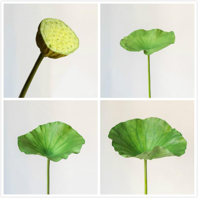 Artificial Plant Lotus Seed and Leaf Stem in Various Sizes RusticReach