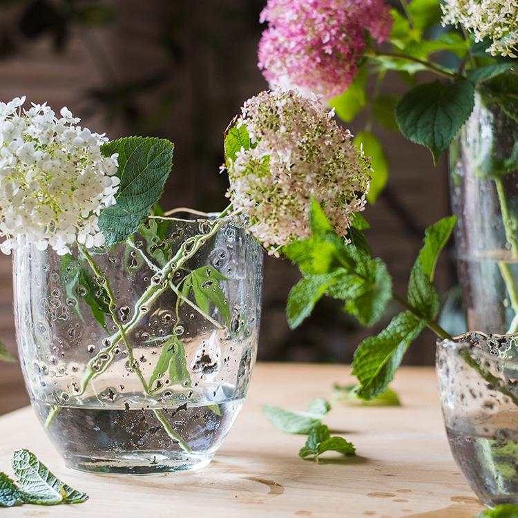 Clear Art Glass Vase RusticReach