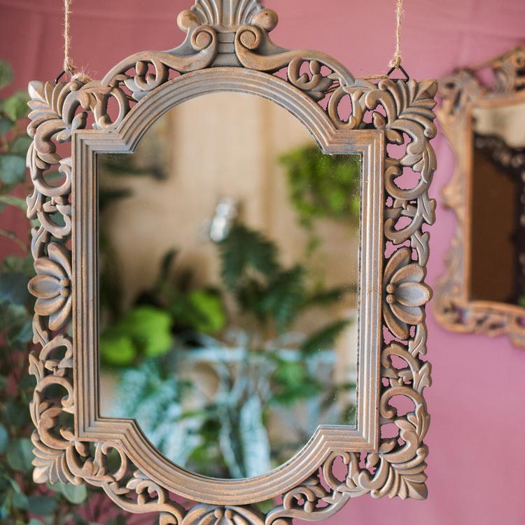 Decorative Mirror French Palace Style Carving Frame Wall Mirror RusticReach