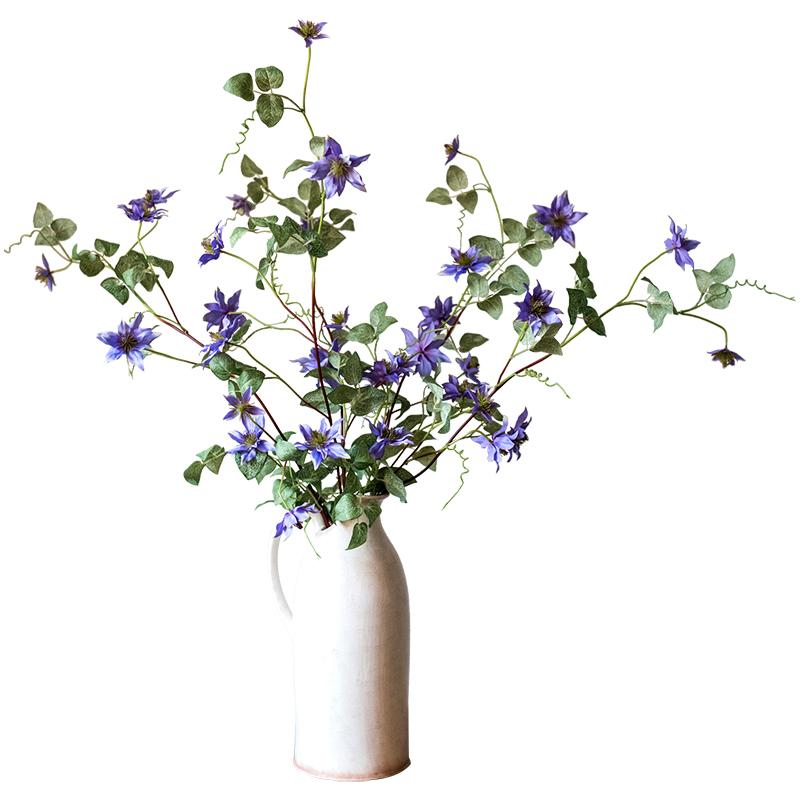 "German Clematis Flower Stem in Purple 40"" Tall RusticReach"