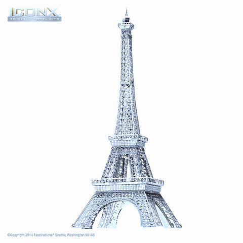 Eiffel Tower ICONX 3-D Metal Model