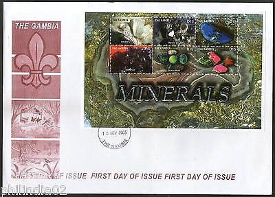 Gambia 2003 Minerals Gems & Jewellery Sc 2782 Sheetlet on FDC # 15154C