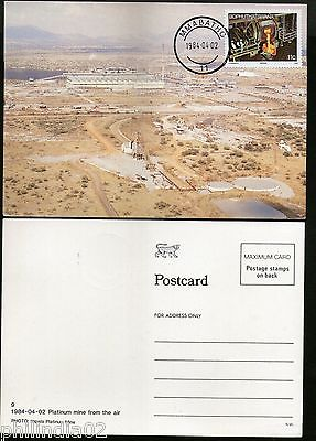 Bophuthatswana 1984 Mining Industry Platinum Mine from Air Sc 124 Max Card #7763