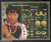 Bhutan 2015 Gems & Jewellery Ornaments Brooch Necklace Bracelet M/s MNH # 9084