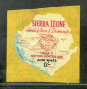 Sierra Leone 1964 6sh World Fair Map Odd Shaped Self Adhesive Sc C19 MNH # 618