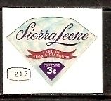 Sierra Leone 3c Odd Shaped Diamond Die Cut Self Adhesive Jems & Jewellery MNH