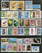 India 1982 Year Pack of 36 Stamps Painting Railway Wildlife Games Flowers Telephone Sculpture Festival Railway Police MNH - Phil India Stamps