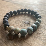 Lava & African Turquoise Aromatherapy Bracelet