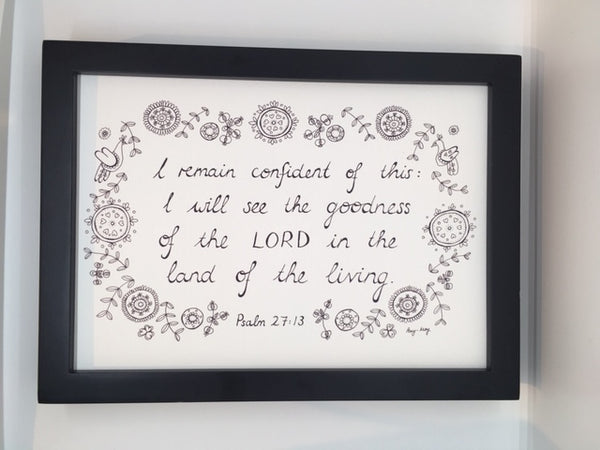 Goodness of the Lord - A4 Print
