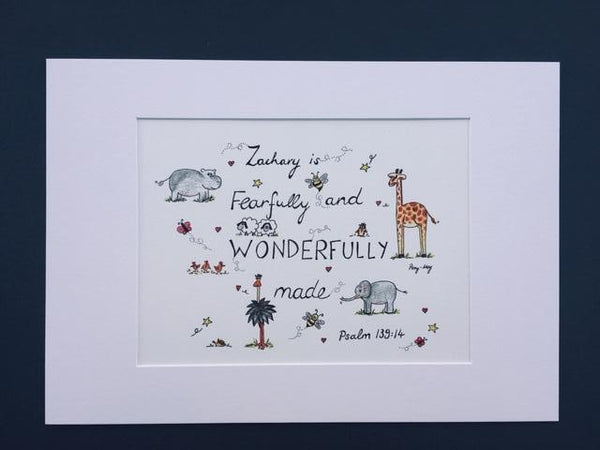 Wonderfully Made (Personalised) - A4 Print