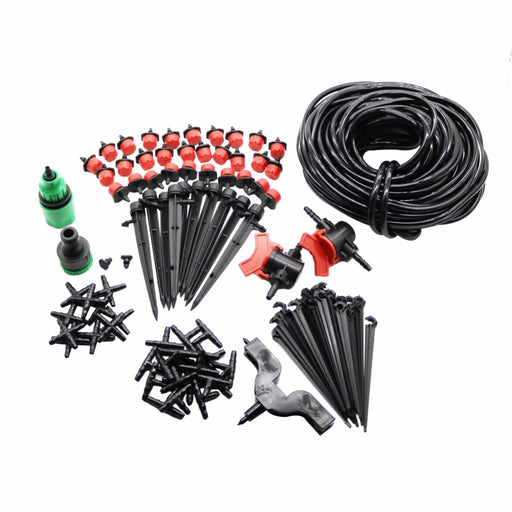 Garden Irrigation Set, 108 Pcs 20m 4 / 7mm Hose, DIY Gardening Sprinkler, Head Hose Bracket, Fast Interface Hole Puncher Plug Tee