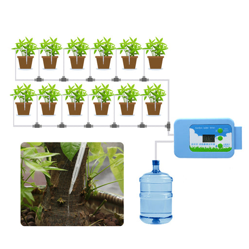 Automatic Waterer, Drip Irrigation, Timer Intelligent, Electronic Garden for Agricultural Watering System