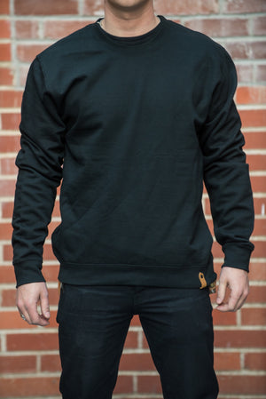 Lock Up Crew Sweater - Black - The Populess Company