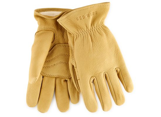 LINED BUCKSKIN GLOVES 95237 - Yellow - The Populess Company