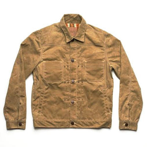 Freenote - Riders Jacket Waxed Canvas Tobacco - The Populess Company