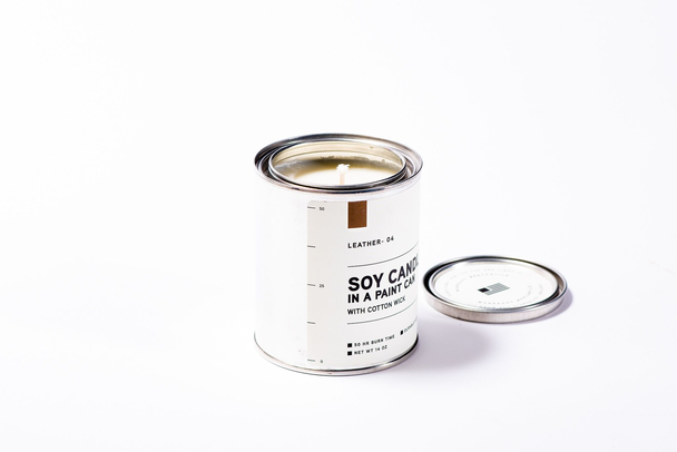 Manready Mercantile - Paint Can Candle - Leather - The Populess Company