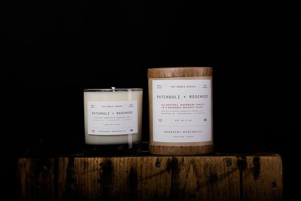 Manready Mercantile - The Noble Series Soy Candle - Patchouli + Rosewood - The Populess Company