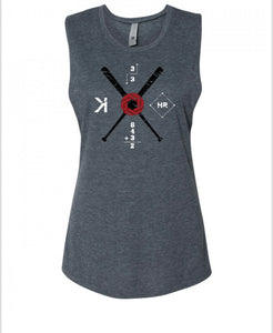 Omnis Baseball Muscle Tank Front
