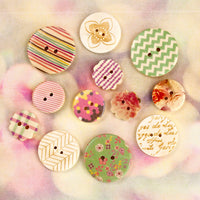 Wood Buttons - Hello Pastel 655350564940