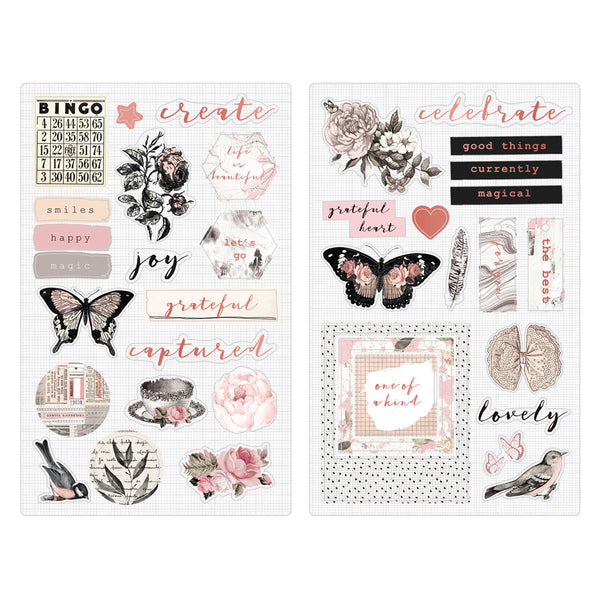 Amelia Rose - Chipboard Stickers 655350596675