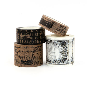 PTJ Vintage Craft and White Decorative Tape 655350630553