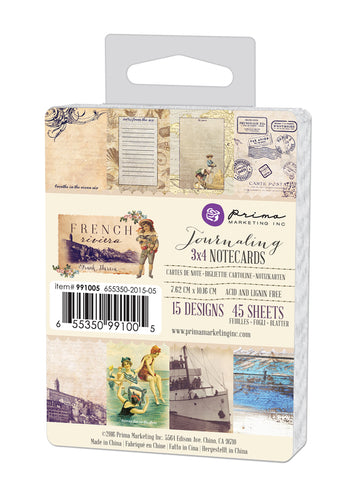 3x4 Journaling Cards-French Riviera 655350991005