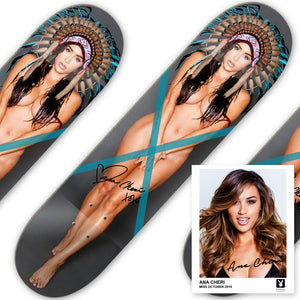 The Official Autographed Headdress Ana Frontside Skate Deck