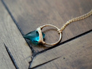 Albatross Necklace - Teal
